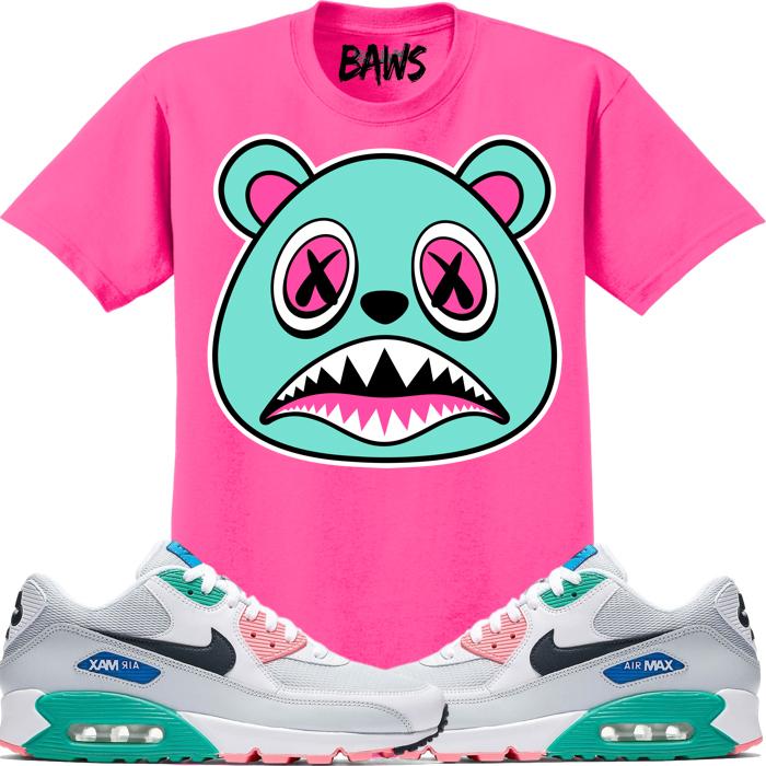 nike-air-max-90-watermelon-sneaker-tee-shirt-match-1