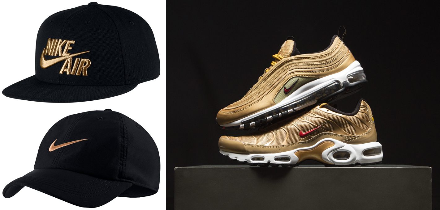 1c97bbd27c ... discount code for nike air max 97 metallic gold hat match eef72 76b20  ...