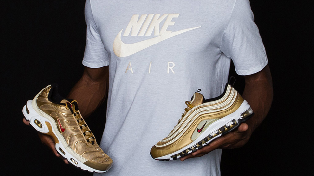 newest 1cccc 0d2d8 Nike Air Max 97 Metallic Gold Shirt Match | SneakerFits.com