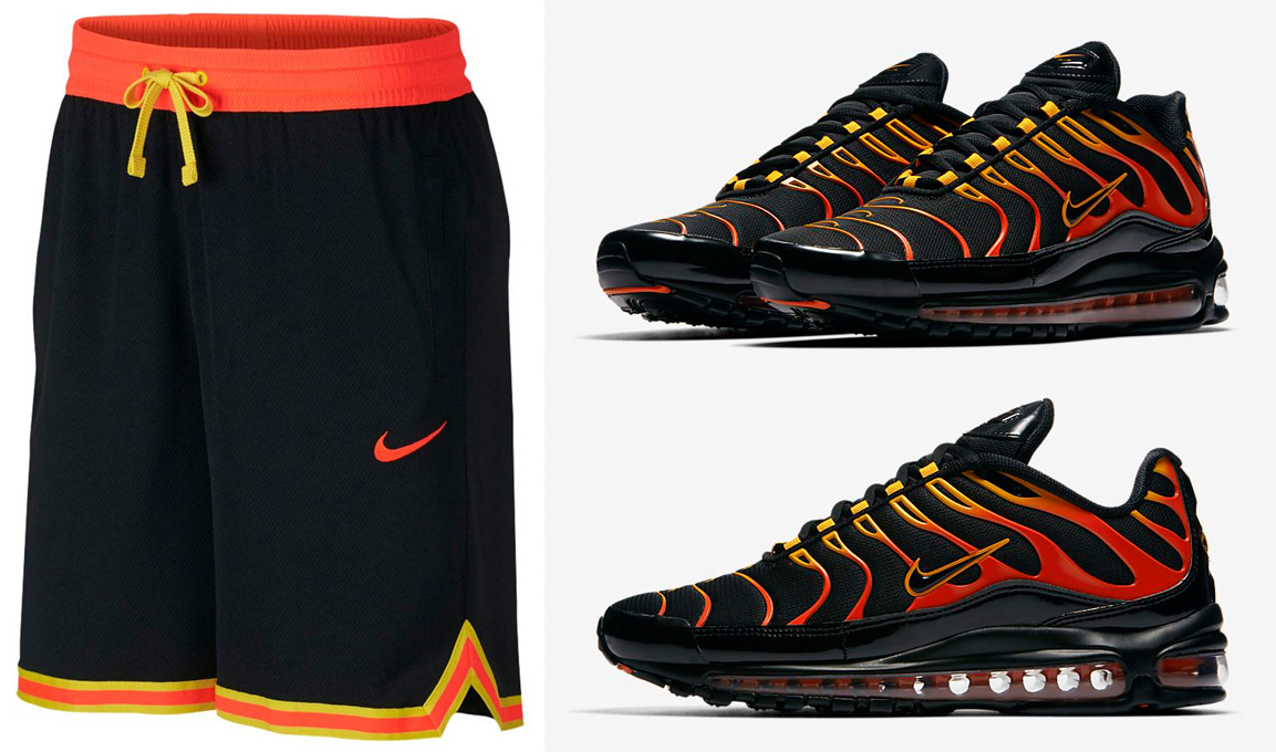 Nike Air Max 97 Plus Shock Orange Shorts |