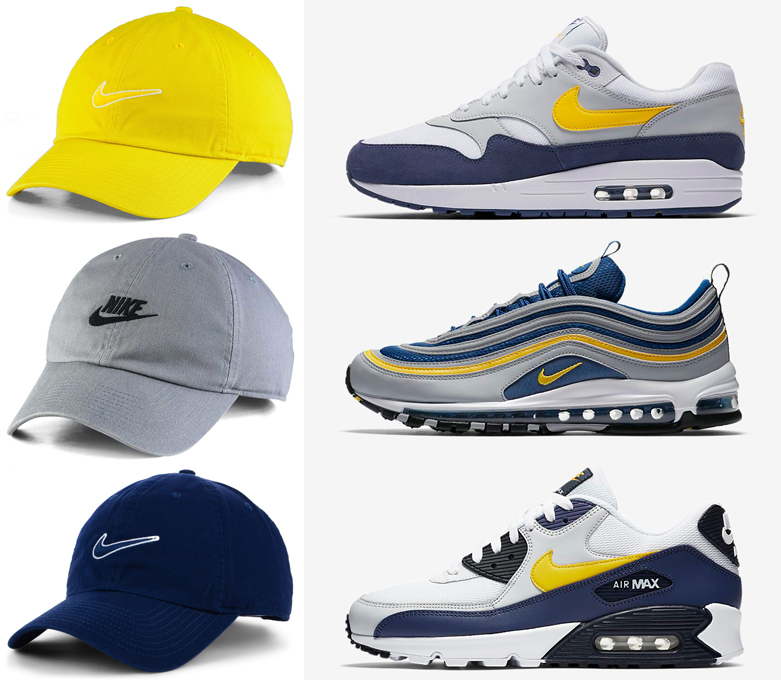 """Nike Heritage Strapback Caps to Match the Nike Air Max """"Michigan"""" Sneaker  Pack 80ea471571f"""