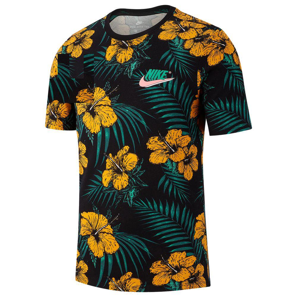 nike-south-beach-black-orange-flower-shirt-1