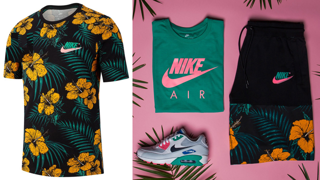 nike-south-beach-black-orange-flower-shirt