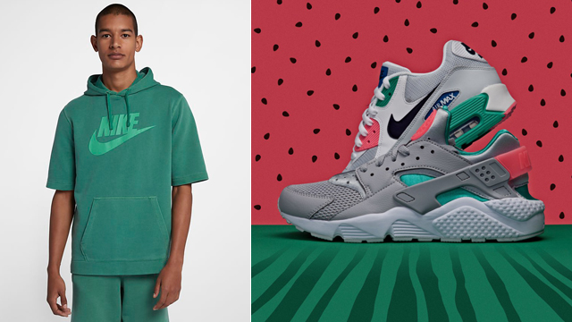 "a10fe4a7b4 Nike Sportswear Overdye Hoodies to Match the Nike Air ""Watermelon"" Sneakers"