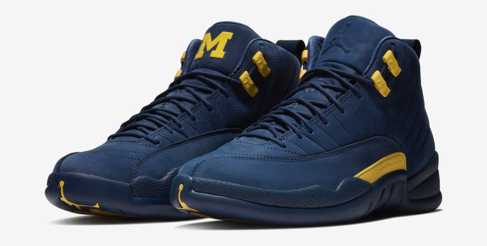 Michigan Jordan Gear >> Air Jordan 12 Michigan Wolverines Shorts | SneakerFits.com