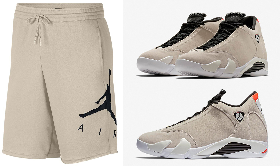 air-jordan-14-desert-sand-jumpman-shorts-1