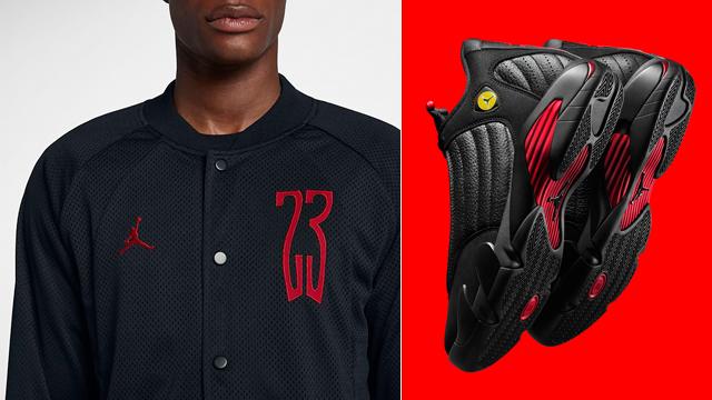 """7dc612e390ba Air Jordan 14 """"Last Shot"""" x Jordan Sportswear Last Shot Bomber Jacket"""