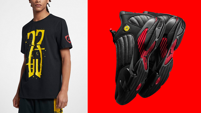 "13434594e802fb Air Jordan 14 ""Last Shot"" x Jordan Retro 14 Last Shot ""23"" T-Shirt"