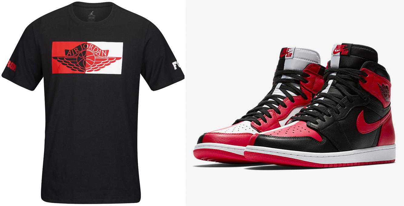 "ccb1a94eef0f Air Jordan 1 ""Homage to Home"" x Jordan Homage to Chicago T-Shirt"