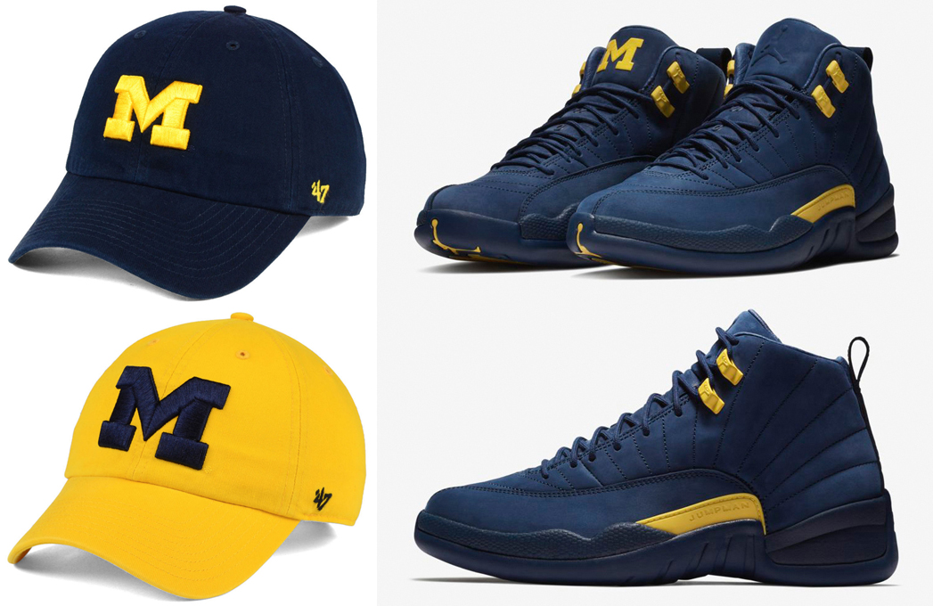 jordan-12-michigan-dad-hats