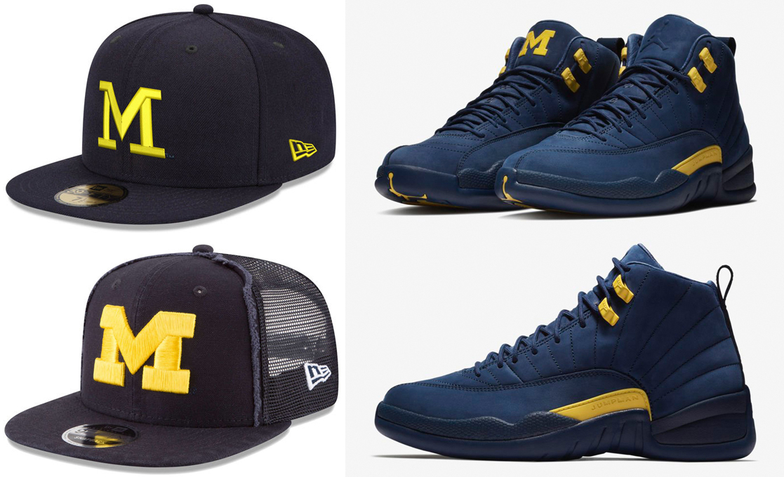 8631c738f32 Hats to Match Air Jordan 12 Michigan | SneakerFits.com