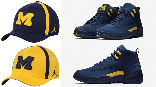 jordan-12-michigan-wolverines-caps