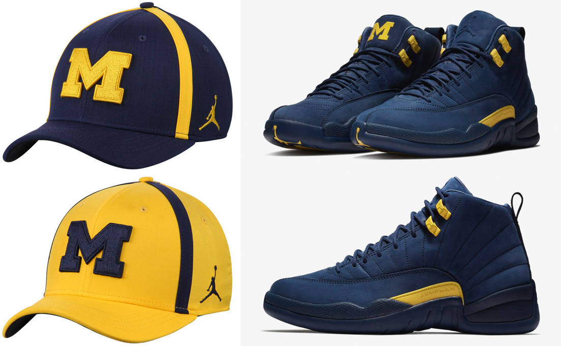 jordan-12-michigan-wolverines-hats