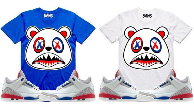 """c0d6d05586f5 BAWS Sneaker Shirts to Match the Air Jordan 3 """"International Flight"""""""