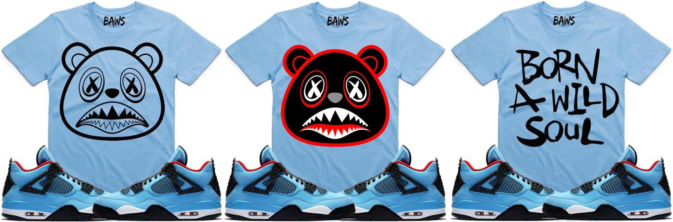 """f0266a20064705 BAWS Sneaker Tees and Hats to Match the Travis Scott x Air Jordan 4 """"Cactus  Jack"""""""