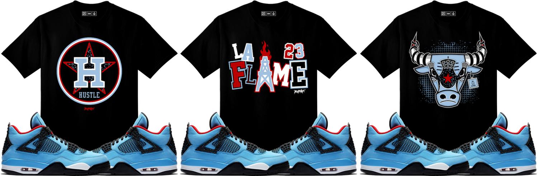 44a19bbf97c4 Jordan 4 Cactus Jack Sneaker Match Shirts | SneakerFits.com