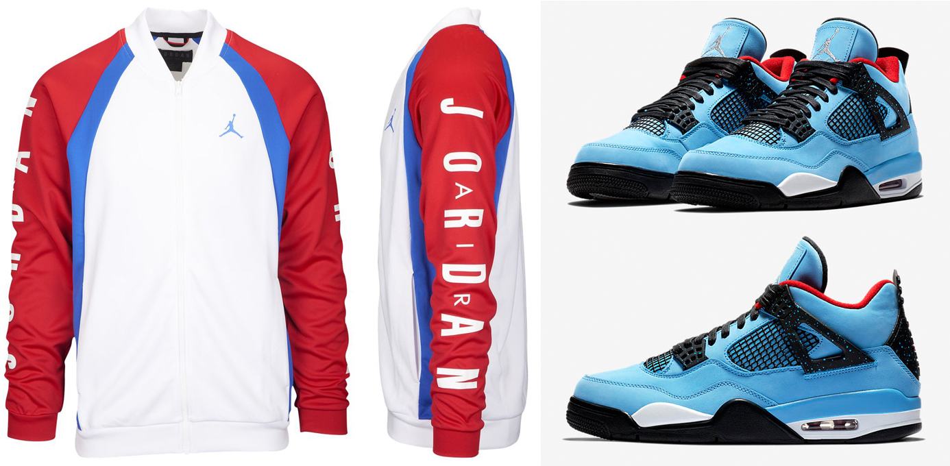 "10a8af36de71 Jordan Jumpman Tricot Track Jackets to Match the Travis Scott x Air Jordan 4  ""Cactus Jack"""