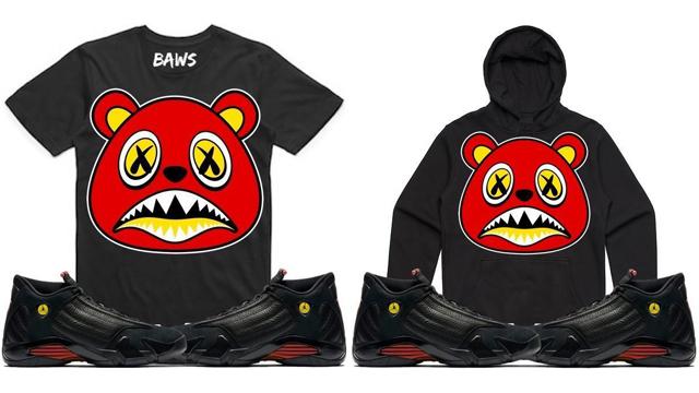 """cd45d077274b BAWS Clothing to Match the Air Jordan 14 """"Last Shot"""""""