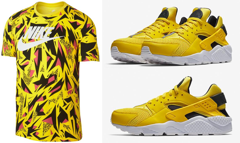 nike-air-huarache-tour-yellow-shirt-match