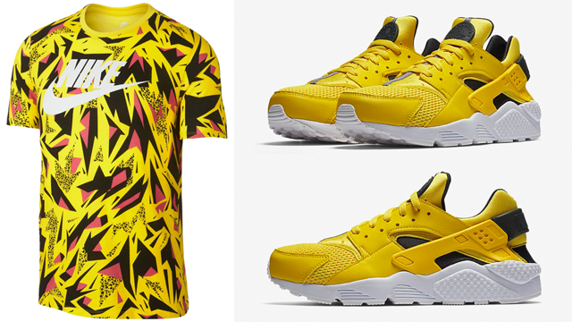 nike-air-huarache-yellow-sneaker-tee-shirt