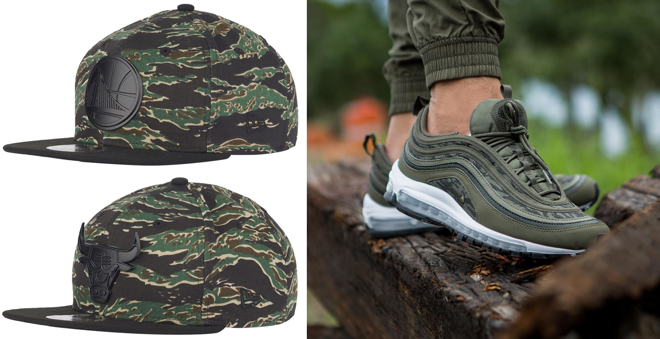on sale 9f79e b87a1 Nike Air Max 97 Tiger Camo Hats to Match | SneakerFits.com