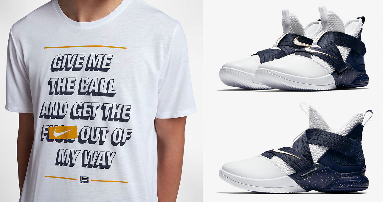 "c3b25808ec6b8 Nike Basketball Clothing and Gear to Match the Nike LeBron Soldier 12 SFG "" Witness"""