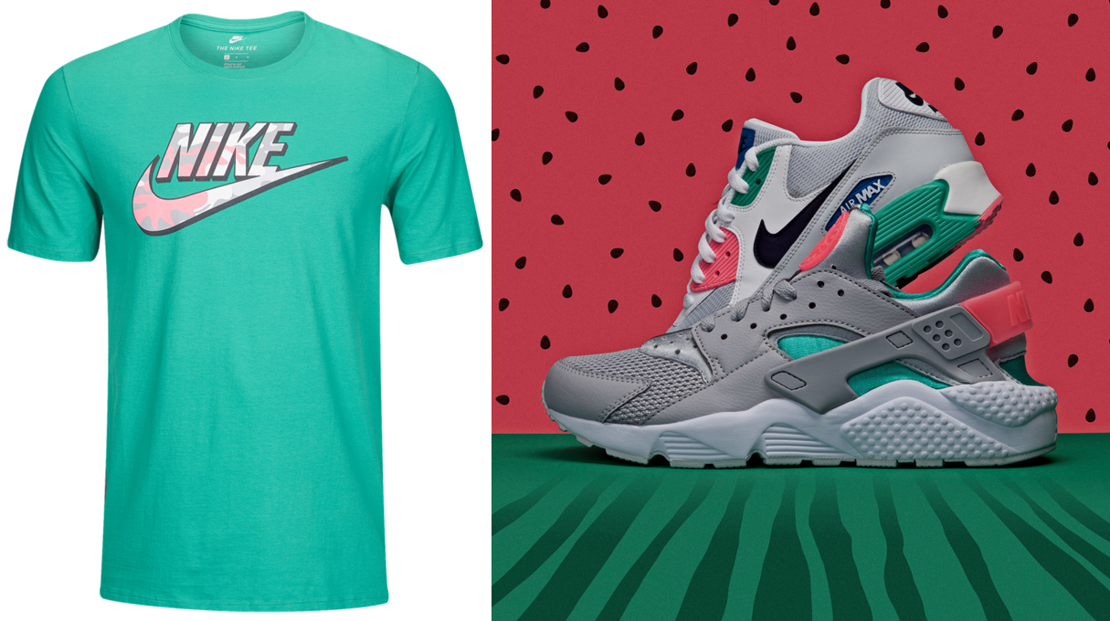 "4bc29ddc16b Nike Camo Logo T-Shirt to Match the Nike ""Watermelon   South Beach"" Sneaker  Pack"