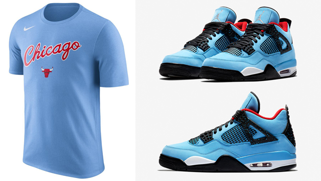 "830a4d5cc9d Chicago Bulls City Edition Clothing to Match the Travis Scott x Air Jordan  4 ""Cactus Jack"""