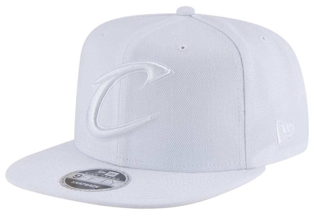 air-jordan-3-pure-triple-white-snapback-hat-cavs