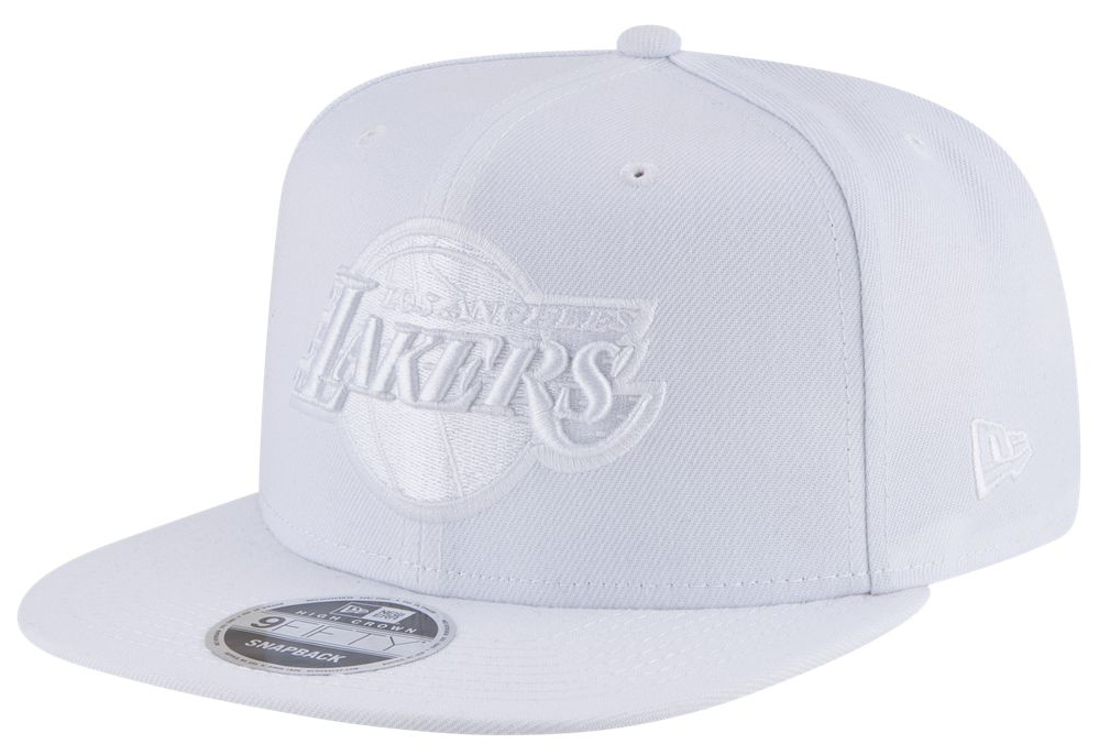 air-jordan-3-pure-triple-white-snapback-hat-lakers