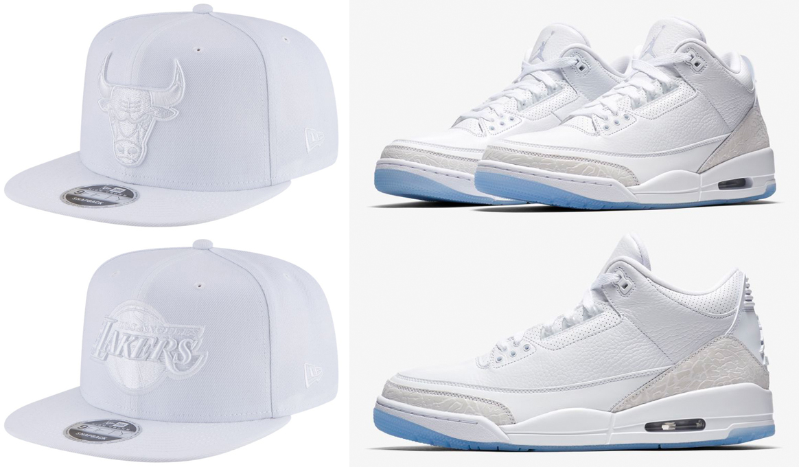 air-jordan-3-pure-triple-white-snapback-hats
