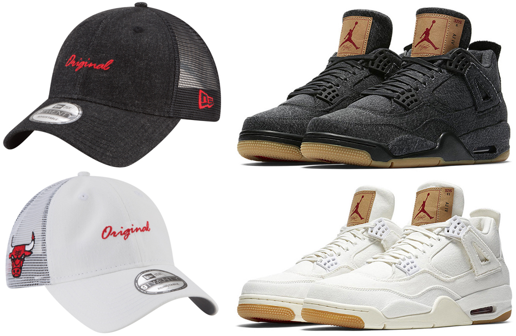 air-jordan-4-levis-black-white-bulls-hat-match