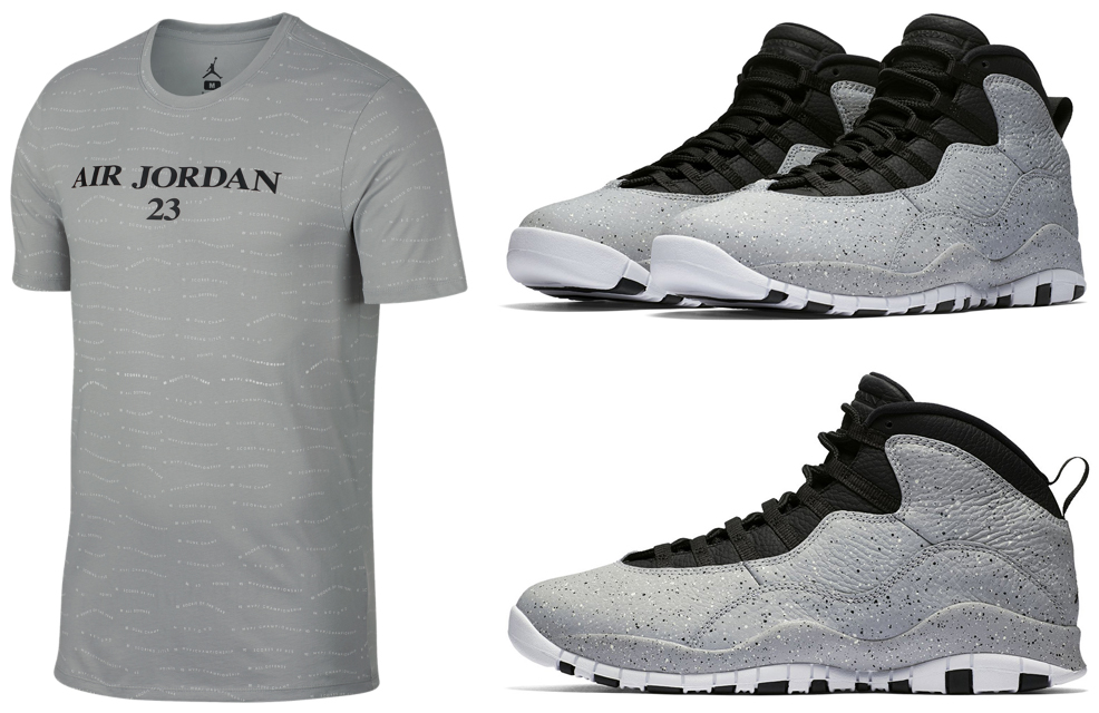 cec54eda652 jordan-10-cement-light-smoke-grey-shirt. The Light Smoke Grey Air ...