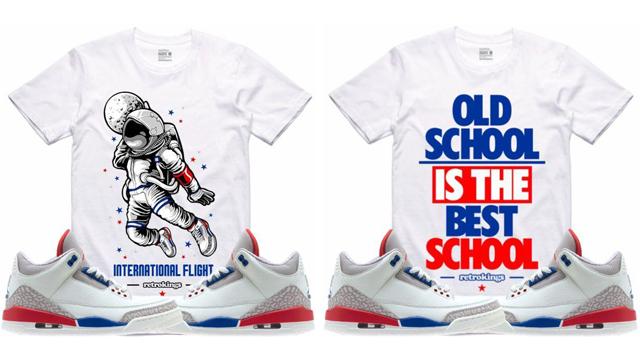 "3003437325f4 Retro Kings Sneaker Tees to Match the Air Jordan 3 ""International Flight"""