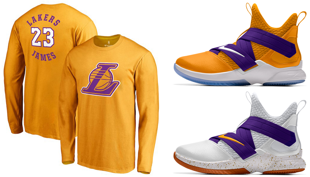 ebb270591831 Lakers LeBron 12 Soldier Shirts to Match | SneakerFits.com