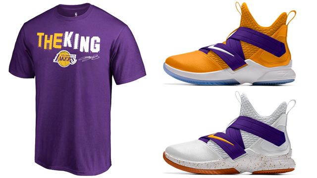 lakers-lebron-shirt-nike-shoe-match