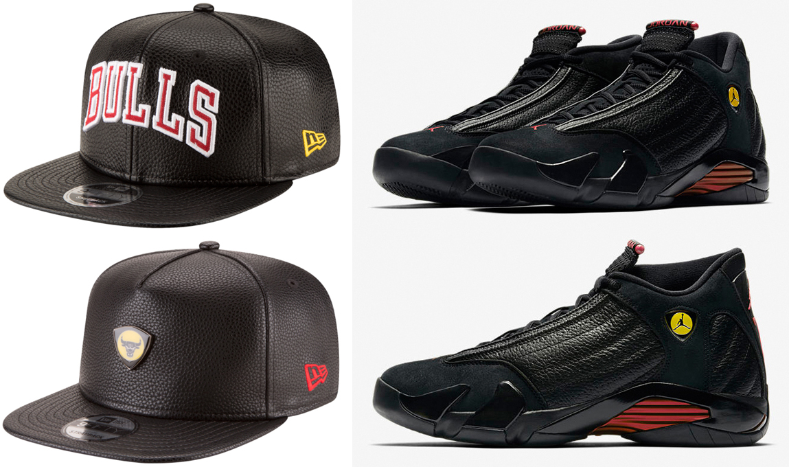 "eab6a658cca Air Jordan 14 ""Last Shot"" x New Era Chicago Bulls NBA Last Shot Snapback  Caps"
