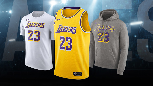 5588fba26117 Nike LeBron James Los Angeles Lakers Name   Number Collection Now Available
