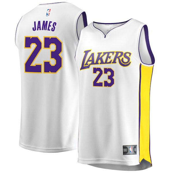 LeBron James LA Lakers Jerseys Nike Shoe Match ...