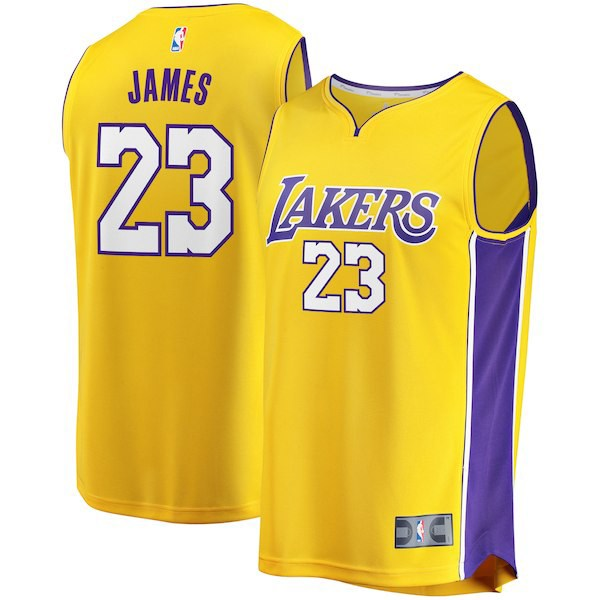 free shipping d9251 632a2 lebron-james-la-lakers-jersey-yellow