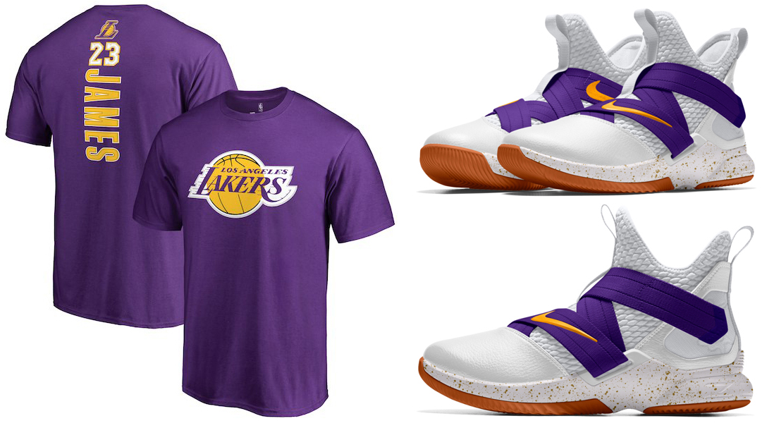 lebron-james-la-lakers-shirt-nike-shoes-match