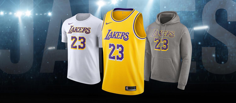 buy popular d965c 23f88 LeBron James LA Lakers Nike Clothing | SneakerFits.com
