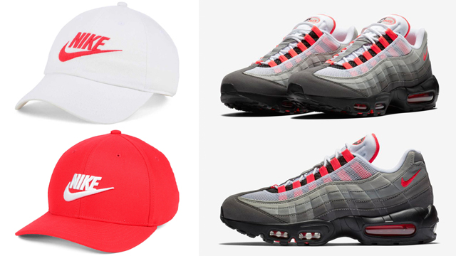 official photos 47f0e c678e ... sweden nike hats to match the nike air max 95 solar red bf895 f7c66