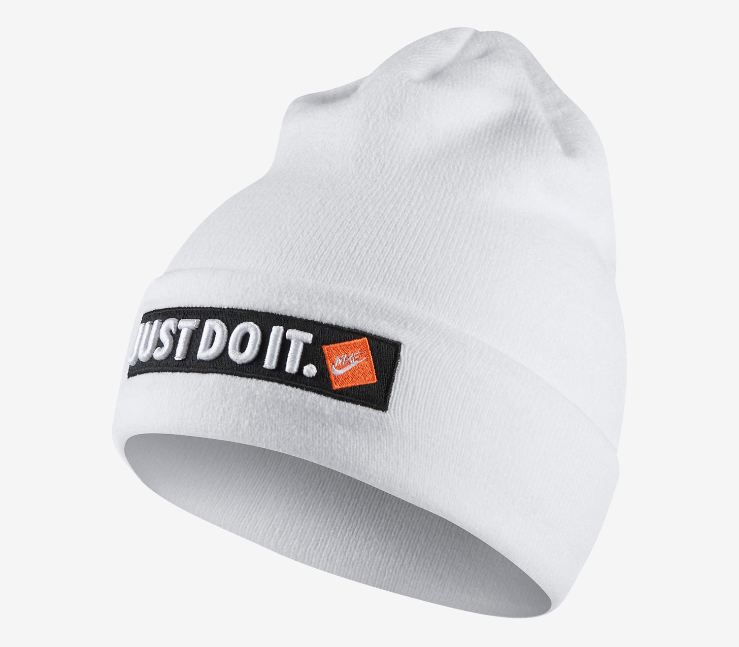 check out 73f19 eff0b nike-just-do-it-beanie-knit-hat-white