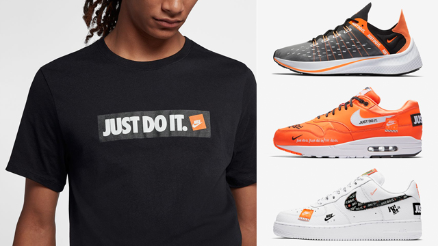 "official photos 66a35 3d62a Nike ""Just Do It"" Boxed T-Shirts x Nike Sportswear ""Just Do It"" Sneakers"