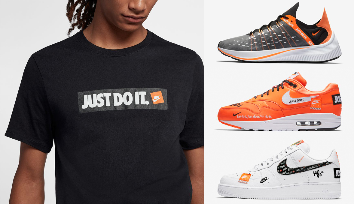 "43b0ff96ac Nike ""Just Do It"" Boxed T-Shirts x Nike Sportswear ""Just Do It"" Sneakers"