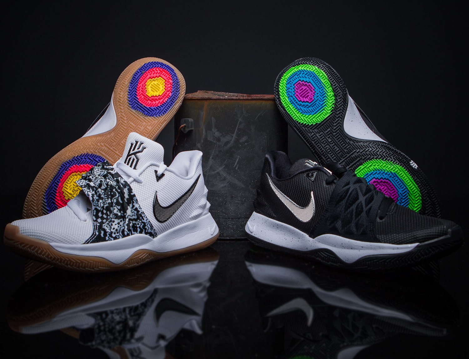 reputable site ba5bd b264d Nike Kyrie 4 Low Available in Black and White Colorways ...