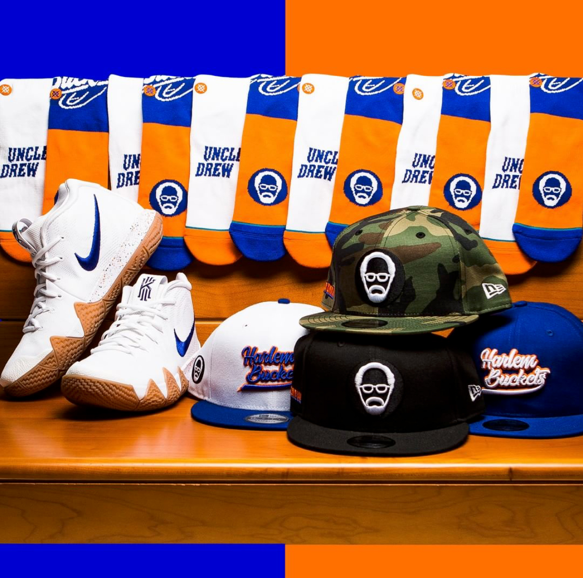 cheap for discount a29f5 172b3 Uncle Drew Hats and Socks to Match Kyrie 4 | SneakerFits.com