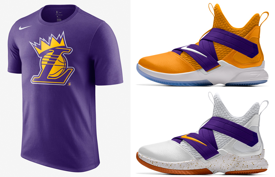 wholesale dealer ebdb6 acb31 LeBron LA Lakers Nike Crown T Shirt | SneakerFits.com