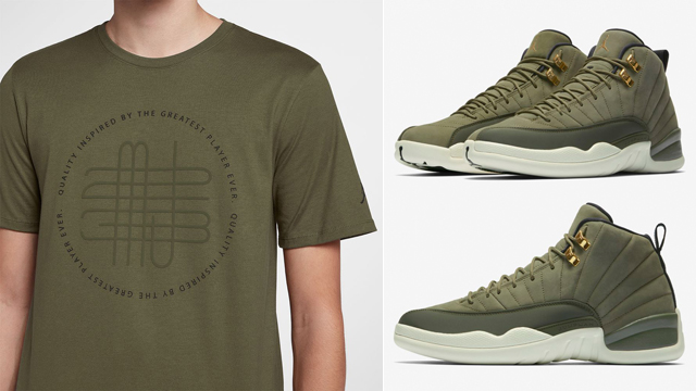 air-jordan-12-chris-paul-class-of-2003-olive-shirts